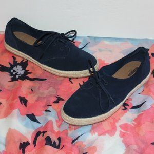 Collection by Clarks Women 10 M Navy Blue Lace